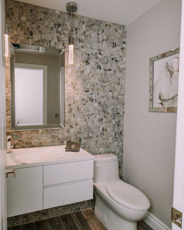 Stone in Powder Room